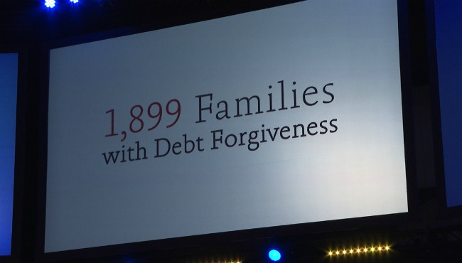 1,899 Families with Debt Forgiveness