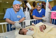 Dr. Abdullah Al-Rabeeah prior to the complex operation to separate the Libyan conjoined twins at King Abdulaziz Medical City (KAMC) on Thursday in Riyadh.